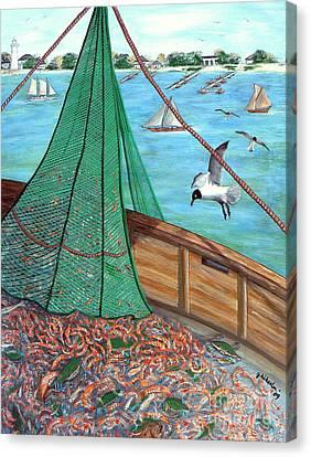 On Deck Canvas Print by JoAnn Wheeler