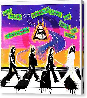 On The Abbey Road Canvas Print by Renee Reeser Zelnick