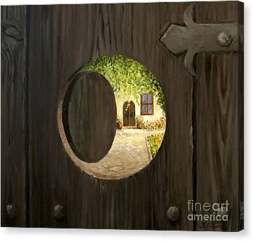 On The Doorstep Canvas Print by Kiril Stanchev