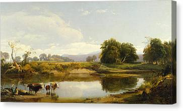 On The Esopus  Meadow Groves Canvas Print by William Hart