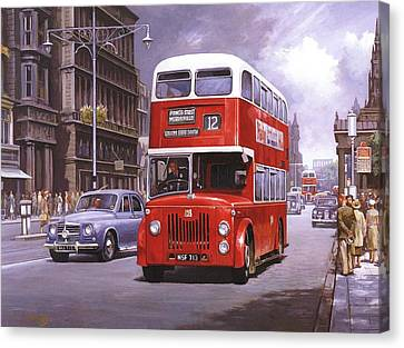 On The Golden Mile Canvas Print by Mike  Jeffries