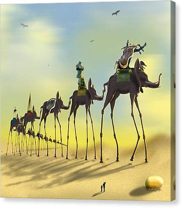 On The Move 2 Without Moon Canvas Print by Mike McGlothlen
