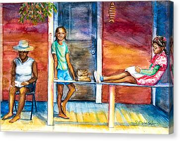 On The Porch Canvas Print by Patricia Allingham Carlson