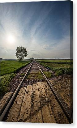 On The Right Track Canvas Print by Aaron J Groen