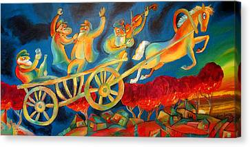 On The Road To Rebbe Canvas Print by Leon Zernitsky