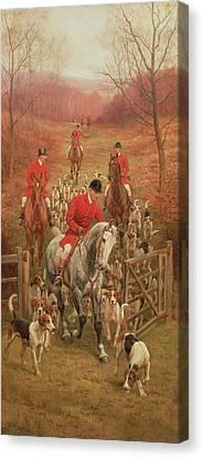 On The Scent, 1906 Canvas Print by Edward Algernon Stuart Douglas