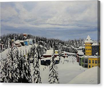 On The Silver Star Slopes Canvas Print by Cynthia Langford
