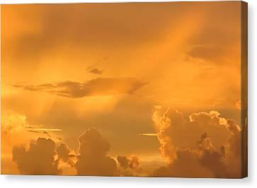 On The Sky Canvas Print by Zina Stromberg