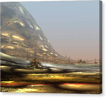 On The Way To The Inner Tibet. 2013 80/64 Cm.  Canvas Print by Tautvydas Davainis
