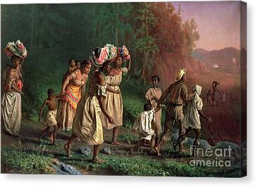On To Liberty Canvas Print by Theodor Kaufmann