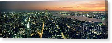 On Top Of The City Canvas Print by Jon Neidert