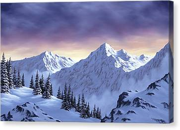 On Top Of The World Canvas Print by Rick Bainbridge