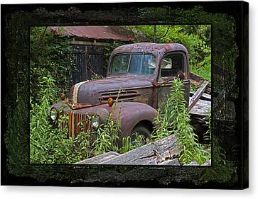 Once Upon A Time - Rusty Ford Pickup Truck Canvas Print by John Stephens