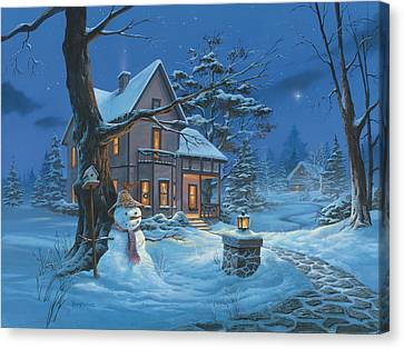 Once Upon A Winter's Night Canvas Print by Michael Humphries