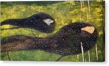 Ondine Canvas Print by Gustav Klimt