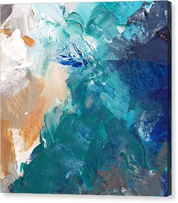 On A Summer Breeze- Contemporary Abstract Art Canvas Print by Linda Woods