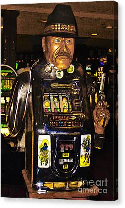 One Arm Bandit Slot Machine 20130308 Canvas Print by Wingsdomain Art and Photography