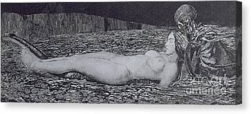 One Corpse Canvas Print by August Bromse