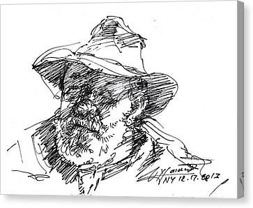 One Eyed Man Canvas Print by Ylli Haruni
