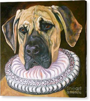 One Formal Pooch Canvas Print by Susan A Becker