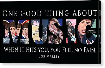 One Good Thing About Music Canvas Print by Tom Roderick
