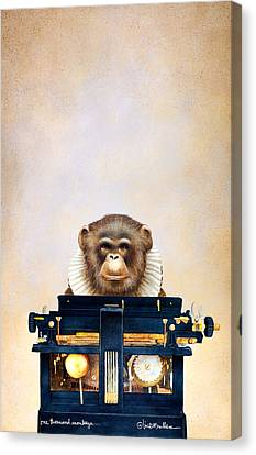 One Thousand Monkeys Canvas Print by Will Bullas
