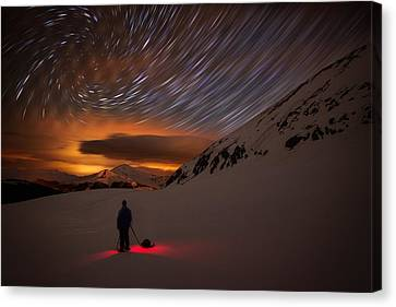 One With The Night Canvas Print by Mike Berenson