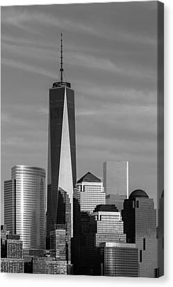 One World Trade Center Bw Canvas Print by Susan Candelario