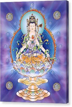 Oneness Avalokitesvara  Canvas Print by Lanjee Chee