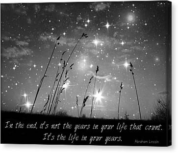 Only The Stars And Me...in The End... Canvas Print by Marianna Mills