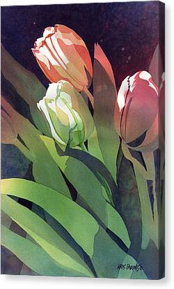 Only Three Tulips Canvas Print by Kris Parins
