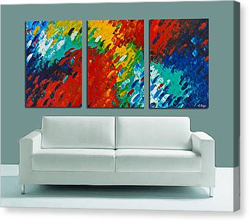 Only Till Eternity Hung As A Triptych By Sharon Cummings Canvas Print by Sharon Cummings