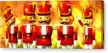 Onward Toy Soldiers Canvas Print by Bob Orsillo