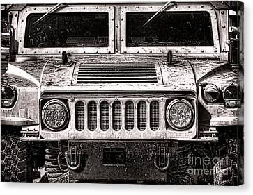 Oomphy Humvee Canvas Print by Olivier Le Queinec
