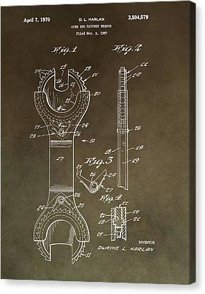 Open End Ratchet Wrench Patent Canvas Print by Dan Sproul