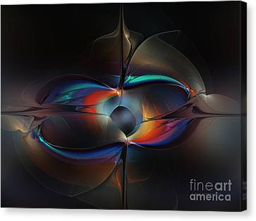 Open Minded-abstract Art Canvas Print by Karin Kuhlmann
