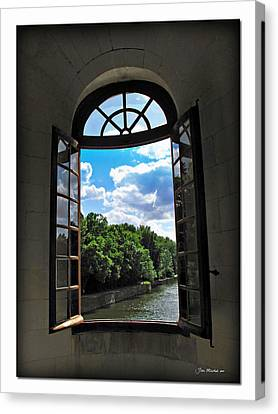 Open Window At Chateau Chenonceau Canvas Print by Joan  Minchak