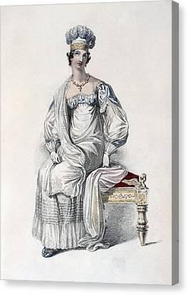 Opera Dress, Fashion Plate Canvas Print by English School