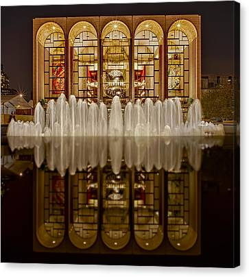 Opera House Reflections Canvas Print by Susan Candelario