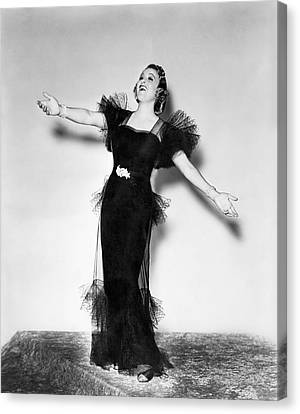 Opera Star Grace Moore Sings Canvas Print by Underwood Archives