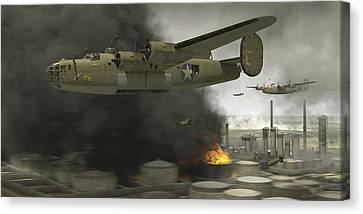 Operation Tidal Wave Side View Canvas Print by Robert Perry