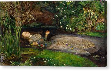Ophelia  Canvas Print by John Everett Millais