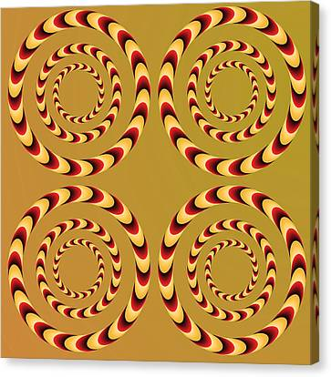 Optical Ilusions Summer Spin Canvas Print by Sumit Mehndiratta