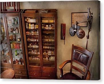 Optometrist - The Optometrists Office Canvas Print by Mike Savad