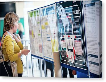 Optometry Conference Posters Canvas Print by Dan Dunkley