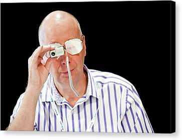 Optometry Lens Demonstration Canvas Print by Dan Dunkley