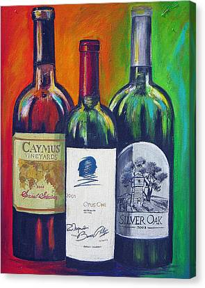 Opus One Caymus And  Silver Oak Canvas Print by Sheri  Chakamian