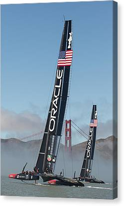 Oracle Team Usa - 1 Canvas Print by Gilles Martin-Raget