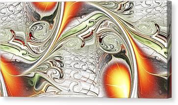 Orange Accent Canvas Print by Anastasiya Malakhova