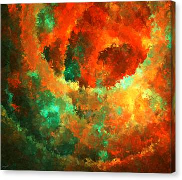 Orange And The Green Canvas Print by Lourry Legarde